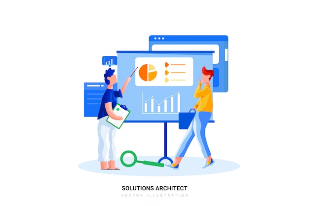 Solutions architect vector illustration