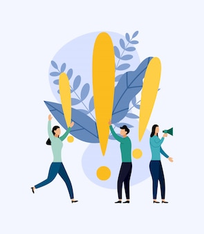 Some people are looking for questions, business illustration