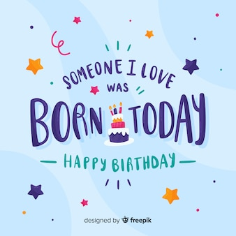 Someone i love was born today birthday card
