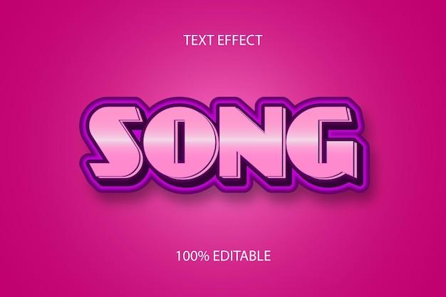 Цвет песни розовый редактируемый текстовый эффект