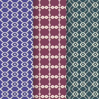 Songket decorative pattern set