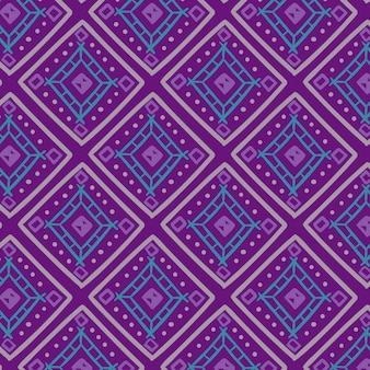 Songket pattern with cold colored shapes