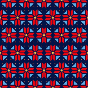 Songket pattern with decorative colorful shapes