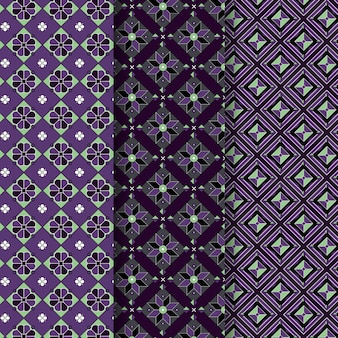 Songket seamless pattern pastel violet