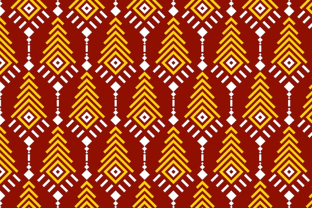 Songket seamless pattern red and yellow