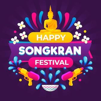 Songkran festival concept