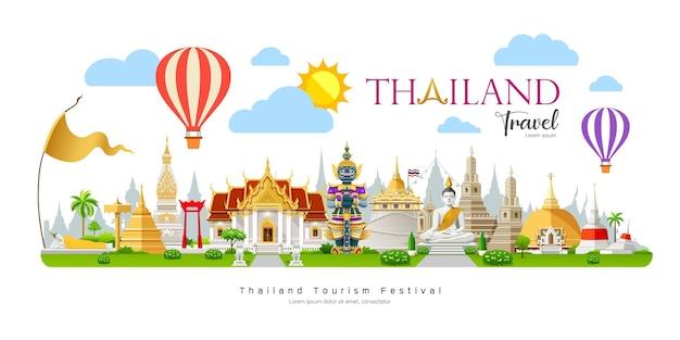 Songkran festival of thailand banner