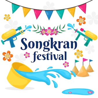 Фестивальная концепция songkran фестиваля