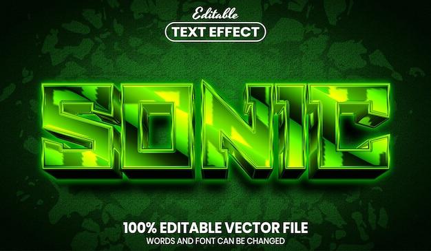 소닉 텍스트, 글꼴 스타일 편집 가능한 텍스트 효과