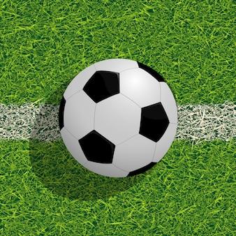 フィールド上のsoocerボール