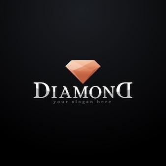 洗練されたダイヤモンドのロゴ