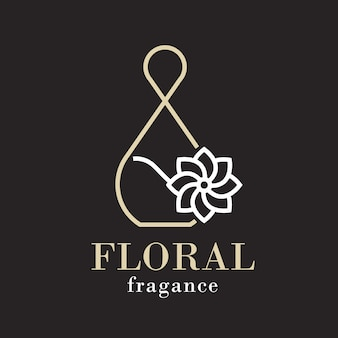 Sophisticated floral perfume logo