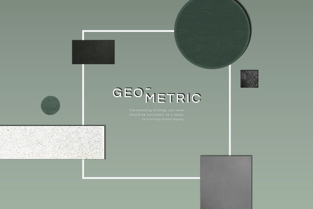 Sophisticated modern geometric frame