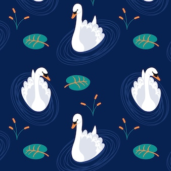 Sophisticated swan pattern