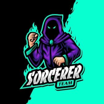 Sorcerer mascot logo epsort gaming
