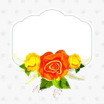 Извините, карта украшена букетом цветов и листьев.