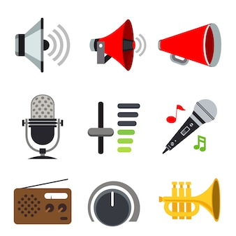 Sound audio loudspeaker volume voice music sign icon