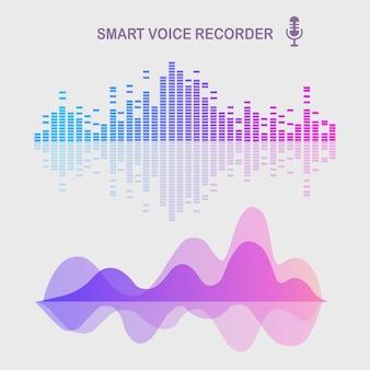 Звуковая звуковая волна от эквалайзера иллюстрации