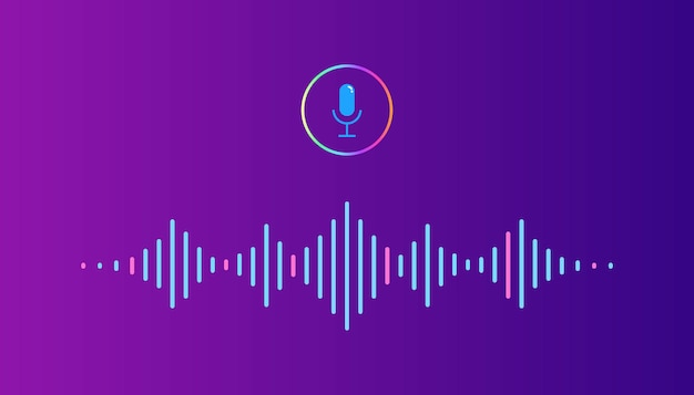 Sound audio wave from equalizer Premium Vector