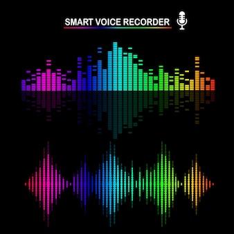Звуковая звуковая волна от эквалайзера