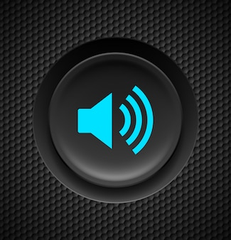 Sound button illustration