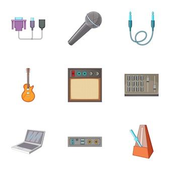 Sound dj set, cartoon style