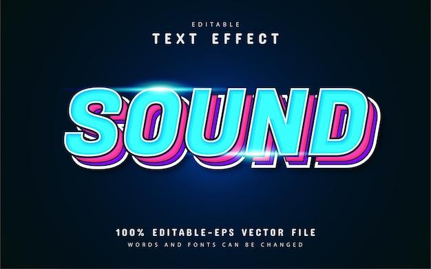 Звуковые редактируемые текстовые эффекты