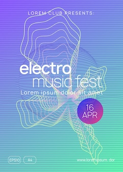 Sound flyer. minimal discotheque banner layout. dynamic gradient shape and line. neon sound flyer. electro dance music. electronic fest event. club dj poster. techno trance party.