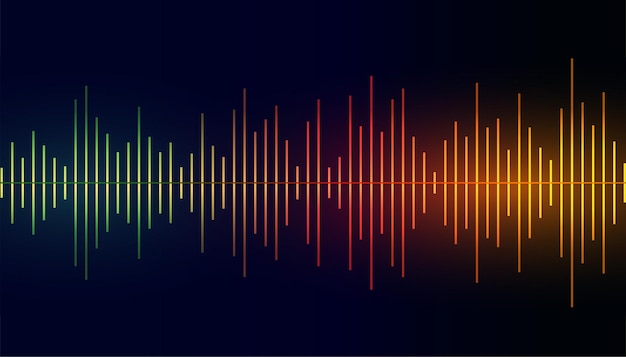 Sound frequency equalizer colorful background