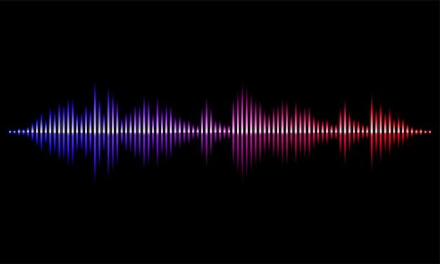Sound radio wave light  background