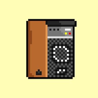 Звуковая система в стиле пиксель-арт