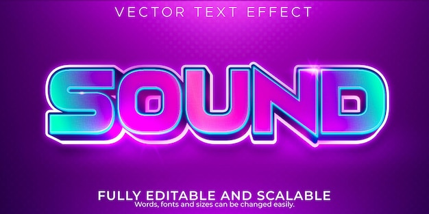 Sound text effect editable music and party text style