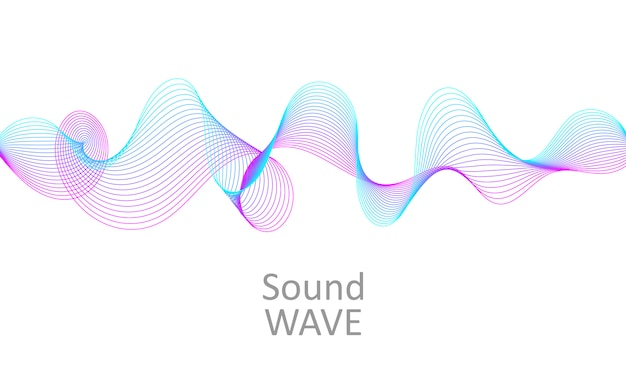 Sound wave. abstract 3d shape. flow design.