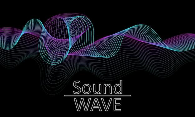音波。抽象的な3d形状。フロー設計。