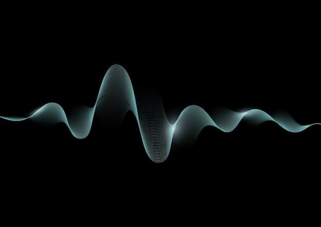 Звуковая волна абстрактная иллюстрация