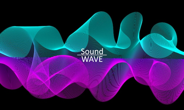 Sound wave. abstract  shape. flow . modern fluid background. liquid wave. flow shape. liquid texture. fluid flow.