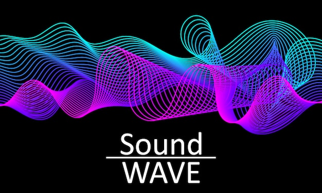 Sound wave. abstract  shape. flow .