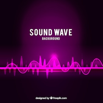 Sound wave background in purple tones