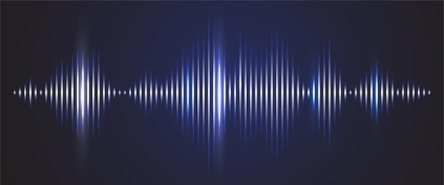 Sound wave digital background. audio track shine graph of frequency and spectrum