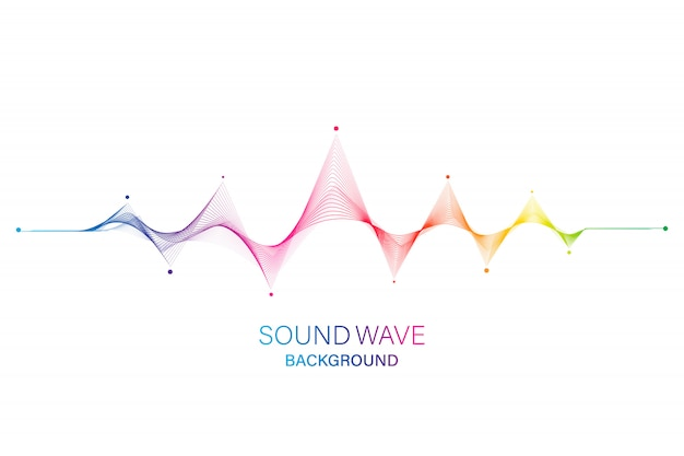 Звуковая волна эквалайзер фон