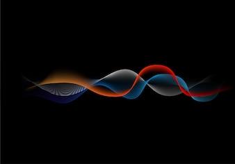 Sound wave equalizer background