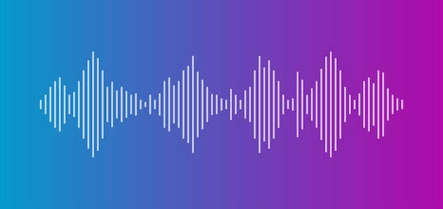 Sound wave equalizer isolated on dark background voice and music audio