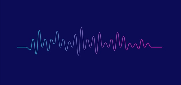 Sound wave equalizer isolated on purple background voice and music audio concept