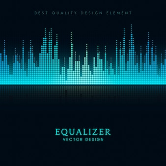 Sound wave equalizer vector design