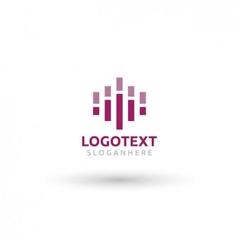 Звуковая волна шаблон логотипа