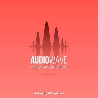 Sound wave logo with flat design
