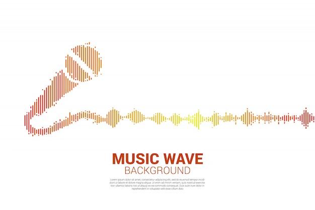 Звуковая волна значок микрофона эквалайзер фон.