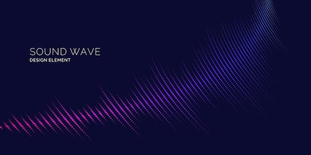Sound wave. modern vector illustration on dark background