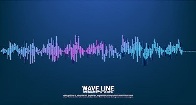 Sound wave music equalizer background. music voice audio visual signal