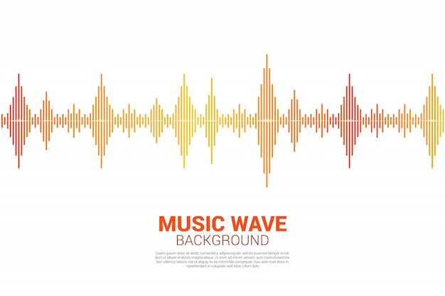 Sound wave music equalizer background